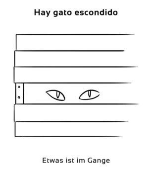 Hay-gato-escondido-Spanische-Redewendungen-Sprichwörter