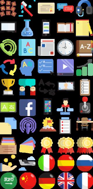 Kostenlose Icons-Sprachenlernen