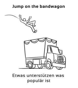 Jump-on-the-bandwagon-englische-sprichwörter-redewendung