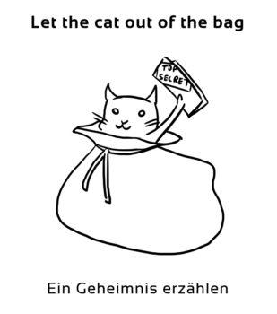 Let-the-cat-out-of-englische-sprichwörter-redewendung