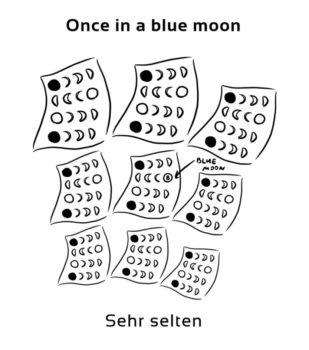 Once-in-a-blue-moon-englische-sprichwörter-redewendung