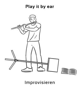 Play-it-by-ear-englische-sprichwörter-redewendung
