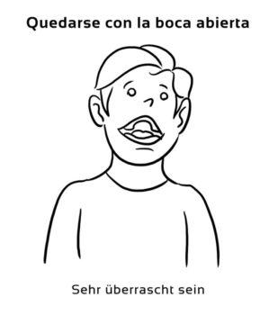 Quedarse-con-la-boca-abierta-Spanische-Redewendungen-Sprichwörter