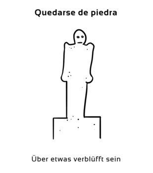 Quedarse-de-piedra-Spanische-Redewendungen-Sprichwörter