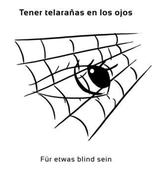 Tener-telaranas-en-los-ojos-Spanische-Redewendungen-Sprichwörter