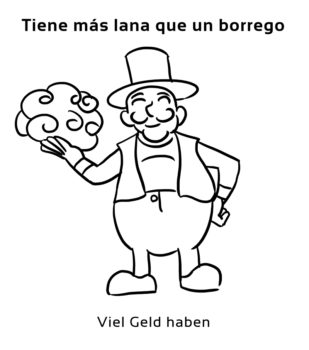 Tiene-mas-lana-que-un-borrego-Spanische-redewendungen-sprichwörter