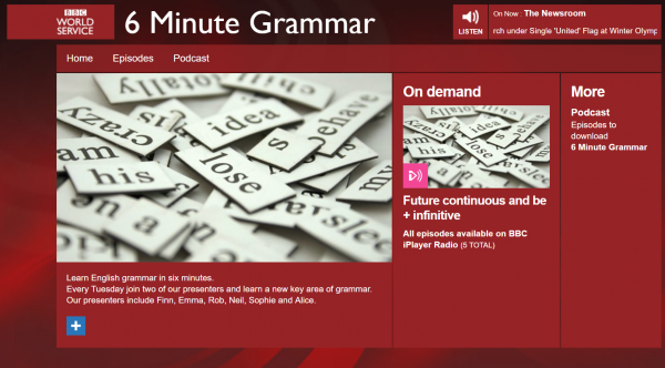 6 minutes de grammaire-podcast-apprendre l'anglais