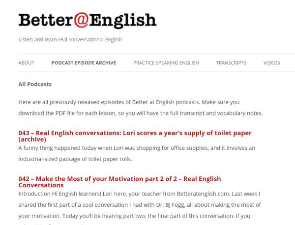 De meilleurs audios de podcast en anglais