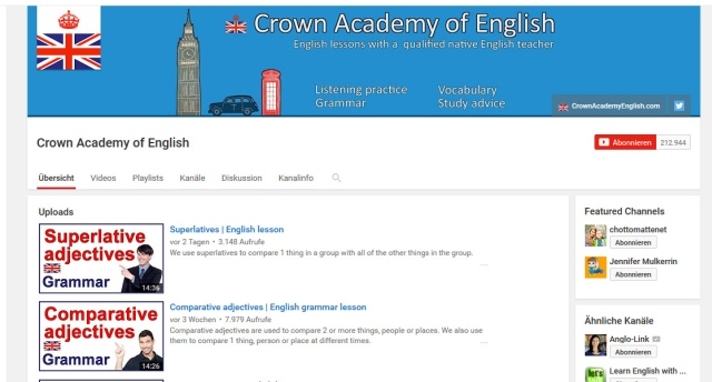 crown-academy-of-english-youtube-kanal-zum-englisch-lernen