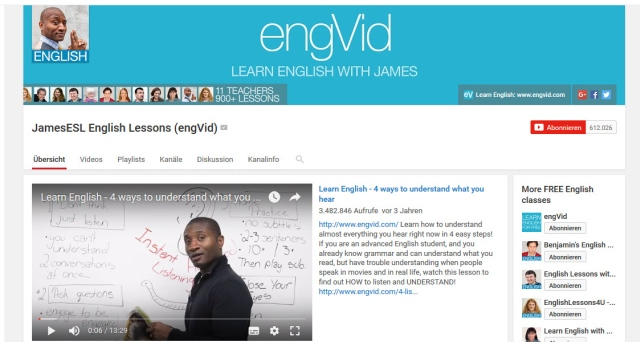 learn-english-with-james-youtube-kanal-zum-englisch-lernen