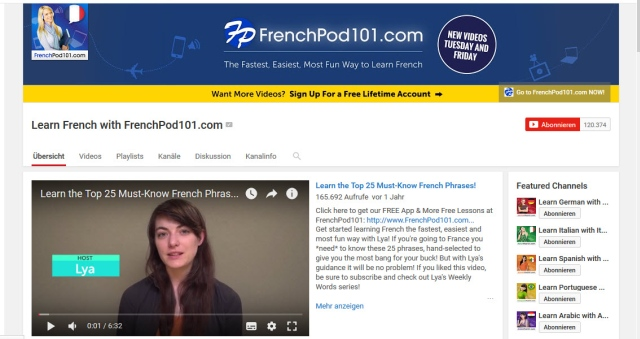learn-french-with-frenchpod101-youtube-kanal-zum-französisch-lernen