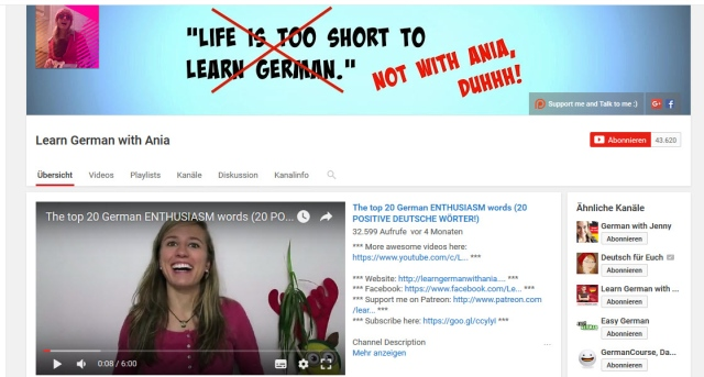 learn-german-with-ania-youtube-kanal-zum-deutsch-lernen
