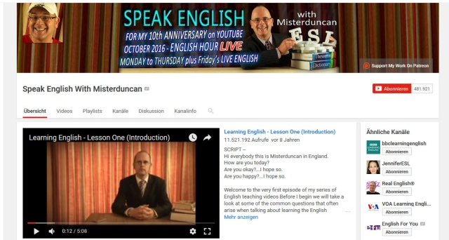 speak-english-with-misterduncan-youtube-kanal-zum-englisch-lernen