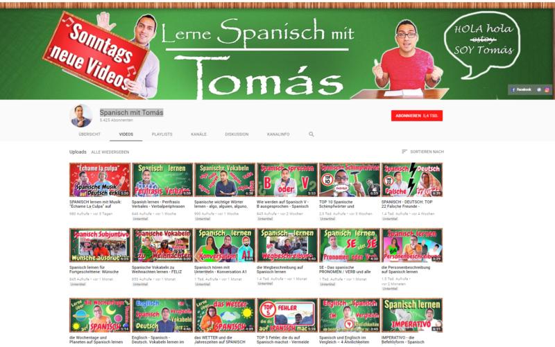 YouTube-Kanal-Spanisch-lernen-Tomas