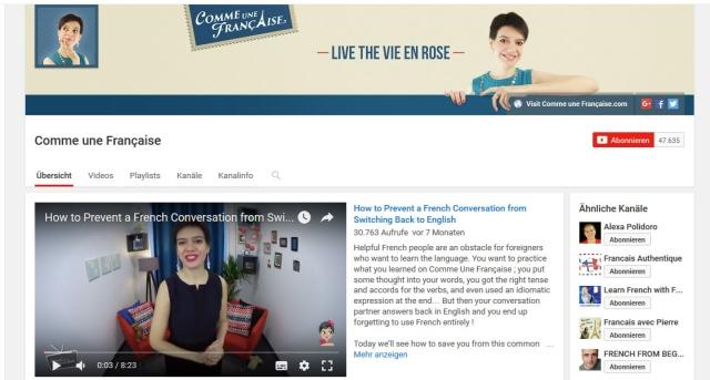 comme-une-francaise-youtube-kanal-zum-französisch-lernen