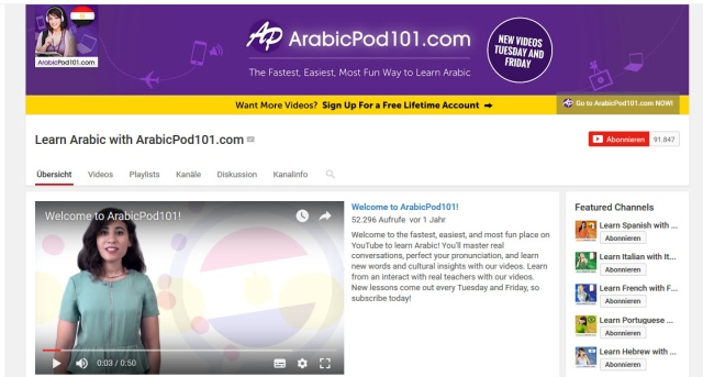 learn-arabic-with-arabicpod101-youtube-kanal-zum-Arabisch-lernen