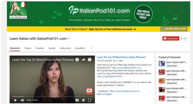 learn-italian-with-italianpod101-youtube-kanal-zum-italienisch-lernen