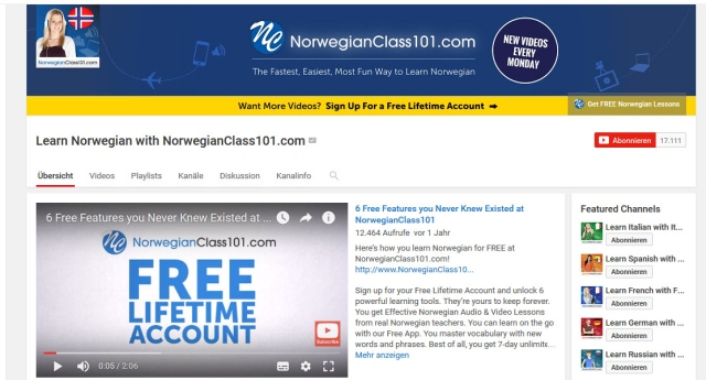 learn-norwegian-with-norwegianclass101-youtube-kanal-zum-norwegisch-lernen