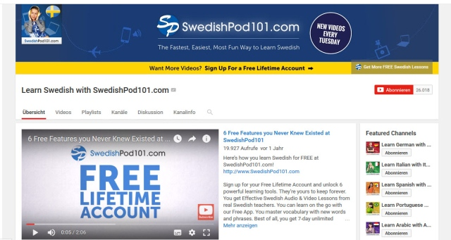 learn-swedish-with-swedishpod101-youtube-kanal-zum-schwedisch-lernen