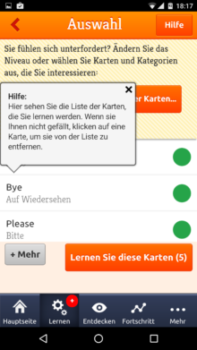 Mosalingua Vokabeltrainer App