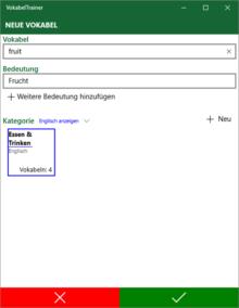 Windows Vokabeltrainer App