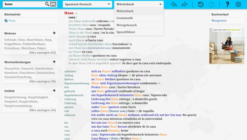 wie man eine Seite ins Englische übersetzt