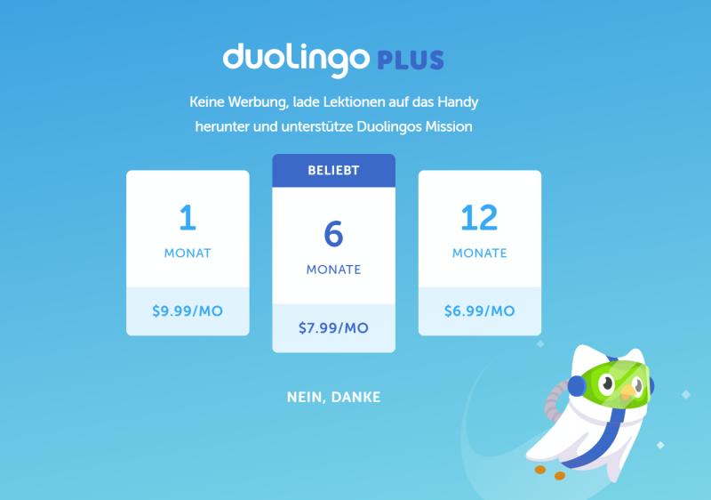 Duolingo-Kosten-Preise-Abonnement