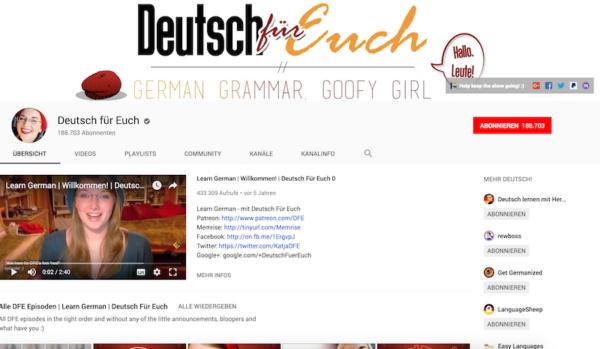 Deutsch fuer Euch DeutschLernen e1553607486597