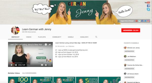 German with Jenny Deutschlernen e1553607522224