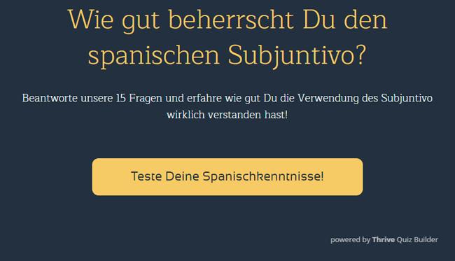 Teste Deine Spanischkenntnisse!