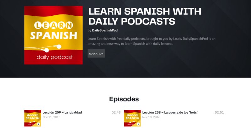 Learn Spanish with daily podcasts Podcast Spanisch lernen