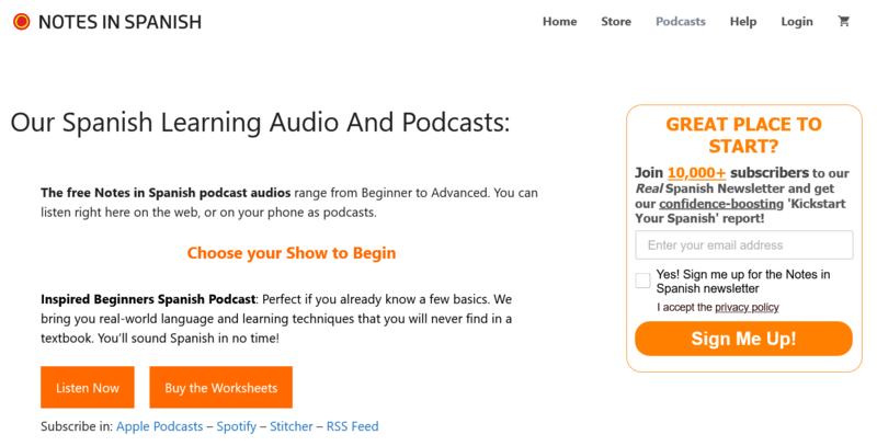 Notes in Spanish Podcast Spanisch lernen