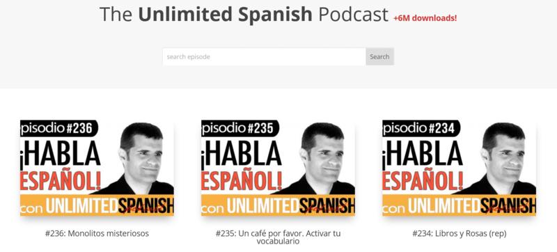 Unlimited Spanish Podcast Spanisch lernen