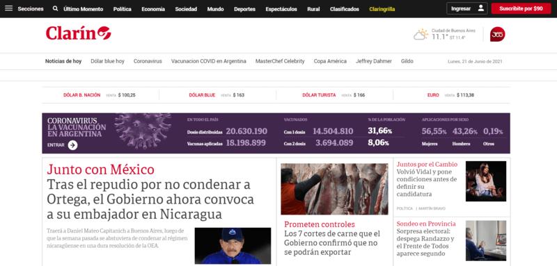 Clarín Spanische Zeitung