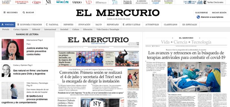 El Mercurio Spanische Zeitung