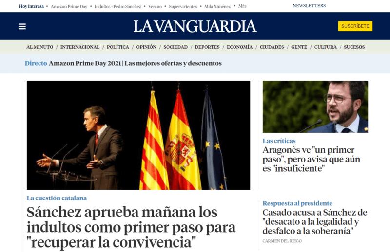 La Vanguardia Spanische Zeitung