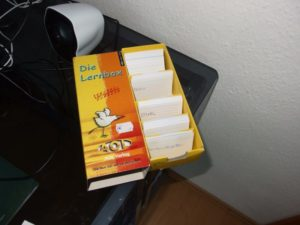 Meine Karteikarten Box für Vokabeln