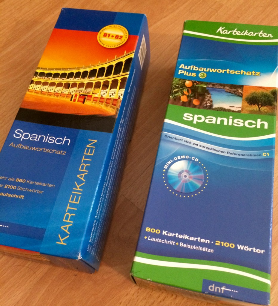 Vokabeln lernen mit Karteikarten: Spanisch lernen