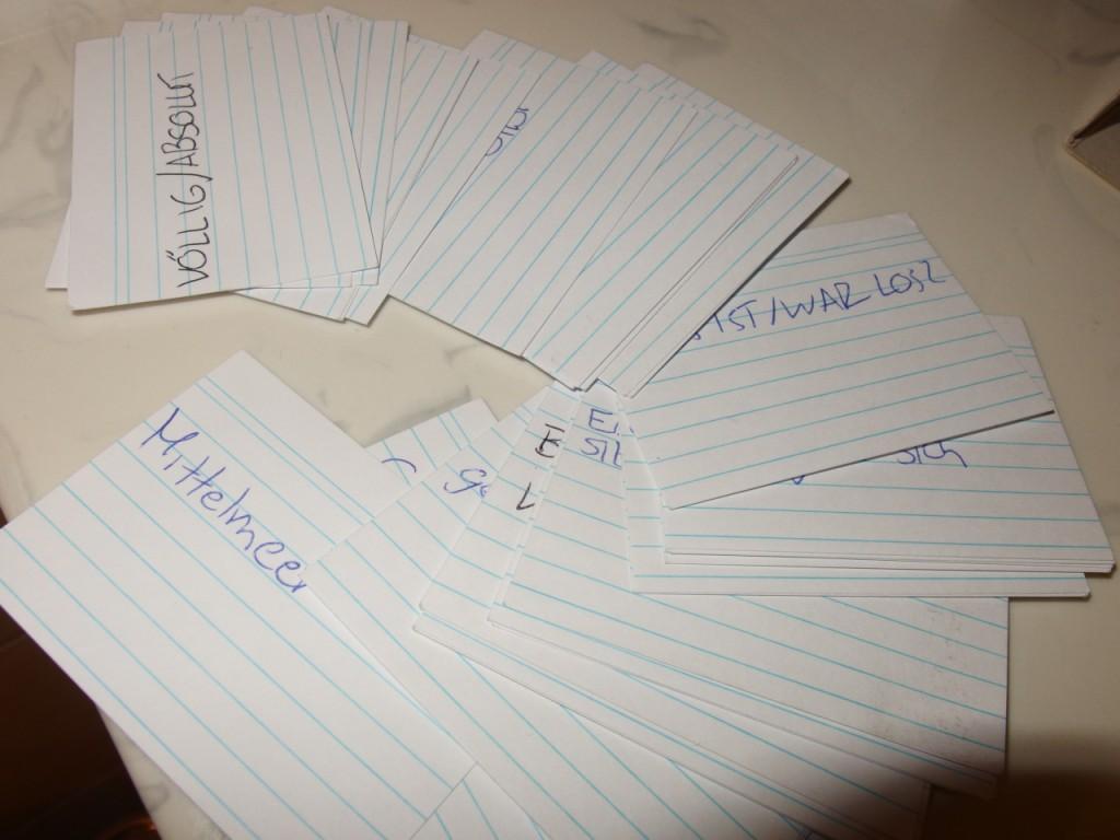 Lerne zwischendurch Vokabeln mit Karteikarten