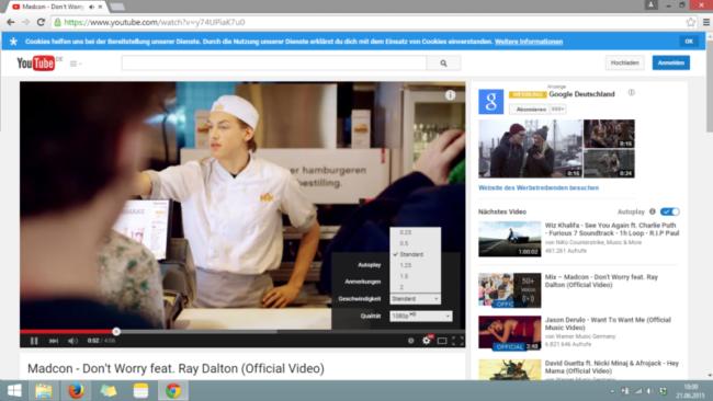 Sprachenlernen mit Video: YouTube