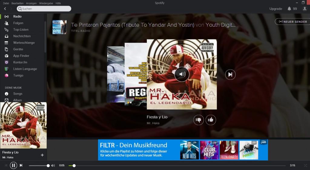 Lernen mit Musik: Spotify
